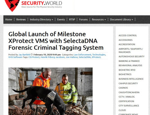 Global Launch of Milestone XProtect VMS with SelectaDNA Forensic Criminal Tagging System